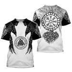Symbol - odin Tattoo 3D Printed men T- shirt