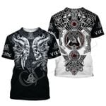 Viking Tattoo Skull T Shirt