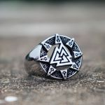 "Ring-  ""Valknut Odin Symbol"""