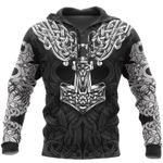 Viking Mjolnir odin 3D Printed hoodies
