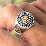 Triangle Odin Vegvisir Ring