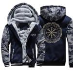 Viking printed Vegvisir Jacket