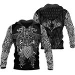 Viking Warrior Tattoo Tracksuit Print Hoodie