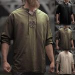 Viking Embroidery  Long Sleeve Shirt