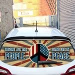 Hippie Rear Window Decal