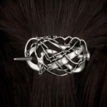 Viking Metal Dragons Hair Clip