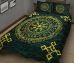 Viking Vegvisir Quilt Bed Set