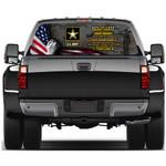 US Army Veteran Rear Window Decal