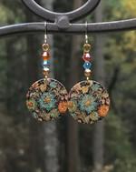 Crystal Boho earrings, hippie earrings, Boho jewelry