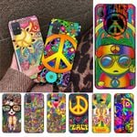 Hippie psychedelic art peace Phone Case