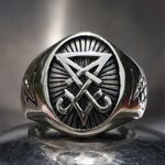 Sigil of Lucifer Satanic Seal of Satan Baphomet Signet  Ring