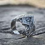 Sacred Knights Templar Masonic Stainless Steel Symbol Ring Men's Freemason Rings Freemasonry Jewelry Gift