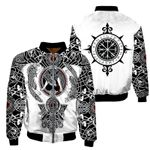 Fashion Men's Viking tattoo Jacket