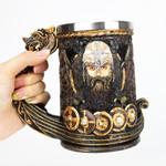 Drakkar Viking Tankard Mug with Stainless Steel