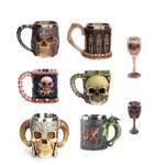 Stainless Steel 3d Skull Mug Viking