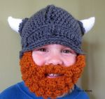 Crochet Baby Viking Hat with detachable beard