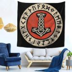 Decoration  Tapestry Viking 59x59 Inches