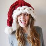 Knitted Santa Hat