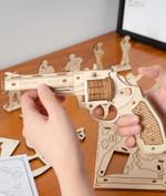 3D Wooden Puzzle Rubber Band Guns