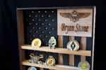 Hanging Wood Military Coin Holder - tên đội