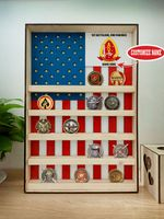 Hanging Wood Military Coin Holder - 1st Battalion, 2nd Marines