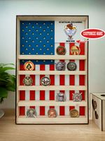 Hanging Wood Military Coin Holder - 1st Battalion, 24th Marines