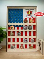 Hanging Wood Military Coin Holder - 1st Battalion, 12th Marines
