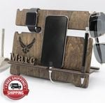 Custom docking station, air force gift, US air force, gift for him, gift for pilot - FREE SHIPPING!