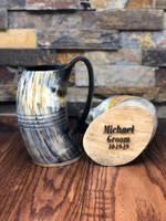 Personalized  Authentic Buffalo Horn Mug Viking