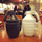 3D Gren-ade Mug 280ml Ceramic Coffee Tea Water Liquid Cup with Cover Lid