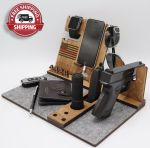 Firefighter Gift, Wood Stand for gun
