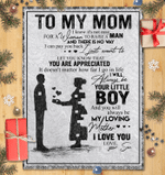 To My Mom I Know It's Not Easy - Blanket - Son's Gift For Mom