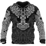 Viking Tattoo Hoodie 3D Printed