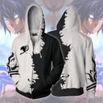 Fairy Tail 3D zipped hoodie