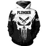 Plumber Skull US American 3D Hoodie