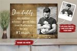 Fathers Day Gift for Dad Daddy Picture Frame