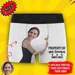 Custom Girlfriend Face Hug My Treasure Men's All-Over Print Boxer Briefs