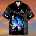 Welder 3D All Over Printed Hawaii Shirt