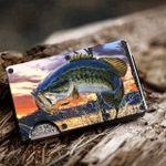 Bass fishing - Metal Wallets