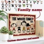 PERSONALIZED HORROR MOVIE FAMILY POSTER