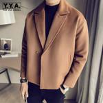 Casual Loose Wool Blends Short Coat