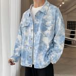 Denim Print Cotton Loose Hip Hop Jacket