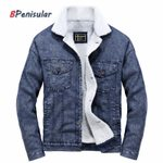 Casual Plus Size Denim Wool Liner Cowboy Jackets