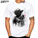 Baby Yoda Old and Young Print t-shirt
