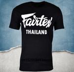 Fairtex Black Casual Kickboxing Round Neck T-shirt