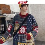 Christmas Sweater Oversized Streetwear Pullover