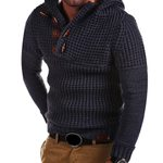 Knitted Casual Sweater Hooded Pullover