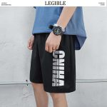 Casual Letter Printed Shorts Male Short
