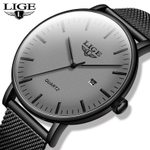 New Gray Stainless Steel Mesh Wristwatch