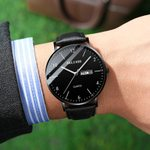 Ultra Slim Clock Top Brand Luxury Watch
